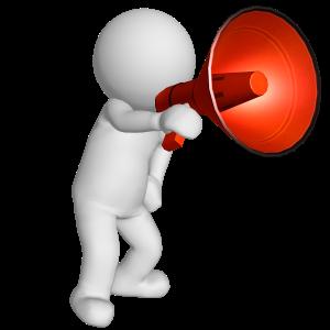 man RED megaphone